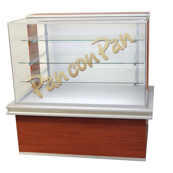 Mostradores de vidrio recto